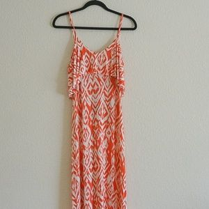 Tart Collections Orange Tribal Maxi Dress